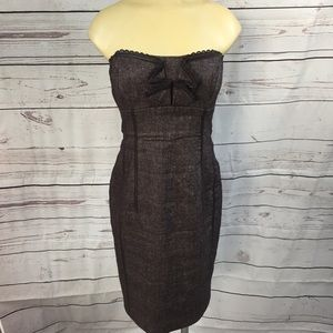 Bebe Tweed Strapless Dress size 10!